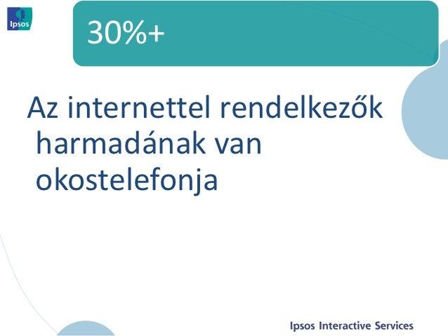 30%+Az internettel rendelkezőkharmadának vanokostelefonja