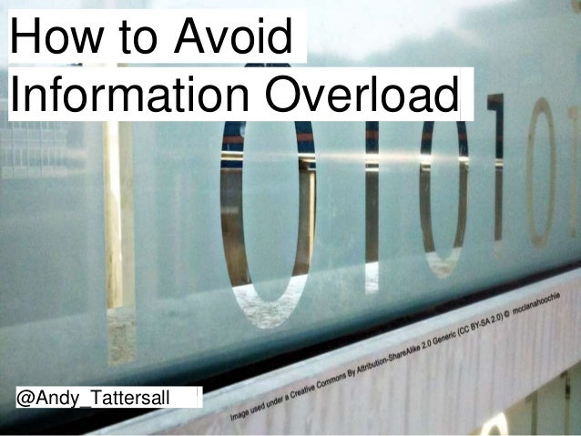 How to Avoid Information Overload @Andy_Tattersall