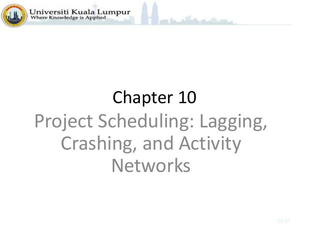 Chapter 10 Project Scheduling: Lagging, Crashing, and Activity Networks 10-01