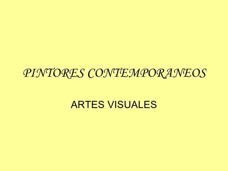 Pintores contemporaneos-4c2bamedio