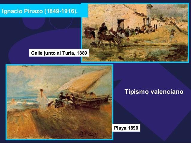 Ignacio Pinazo (1849-1916).  Tipismo valenciano  Calle junto al Turia, 1889  Playa 1890