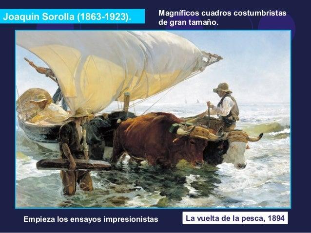 Joaquín Sorolla (1863-1923).  Magníficos cuadros costumbristas  de gran tamaño.  La vuelta de la pesca, 1894  Empieza los ...