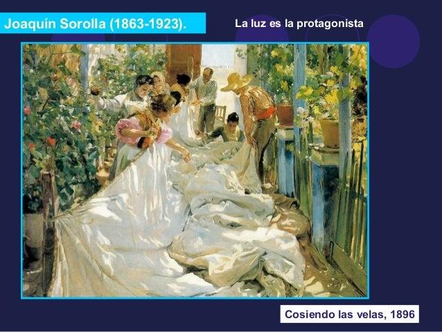 Joaquín Sorolla (1863-1923).  La luz es la protagonista  Cosiendo las velas, 1896