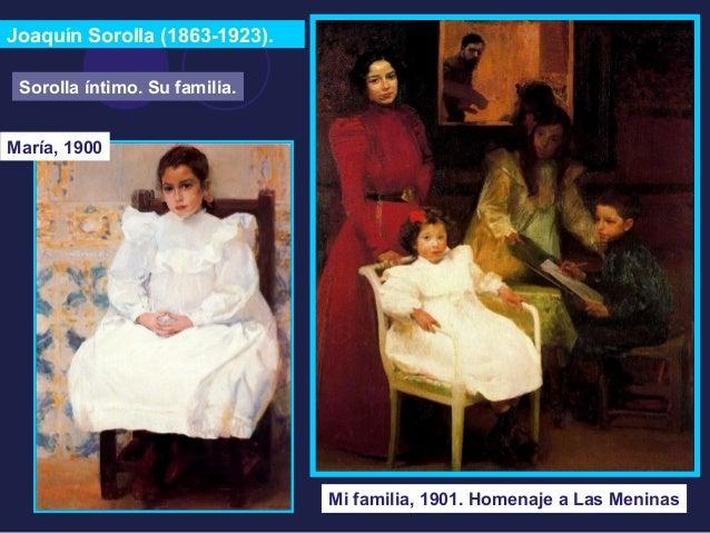 Joaquín Sorolla (1863-1923).  Sorolla íntimo. Su familia.  María, 1900  Mi familia, 1901. Homenaje a Las Meninas