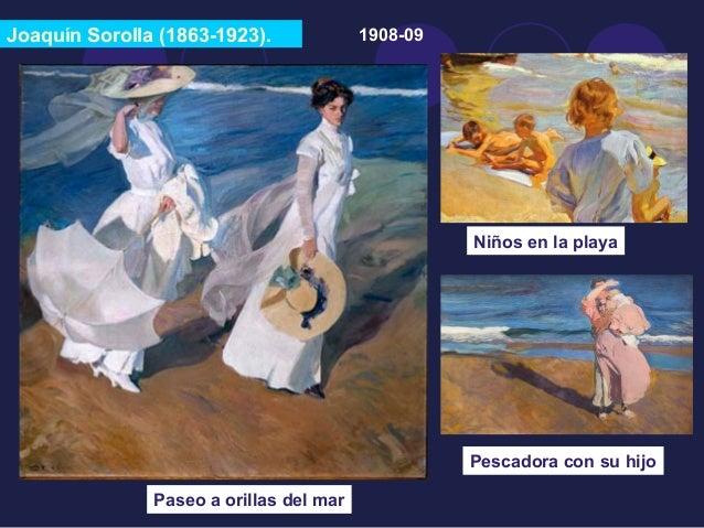 Joaquín Sorolla (1863-1923).  Paseo a orillas del mar  1908-09  Niños en la playa  Pescadora con su hijo