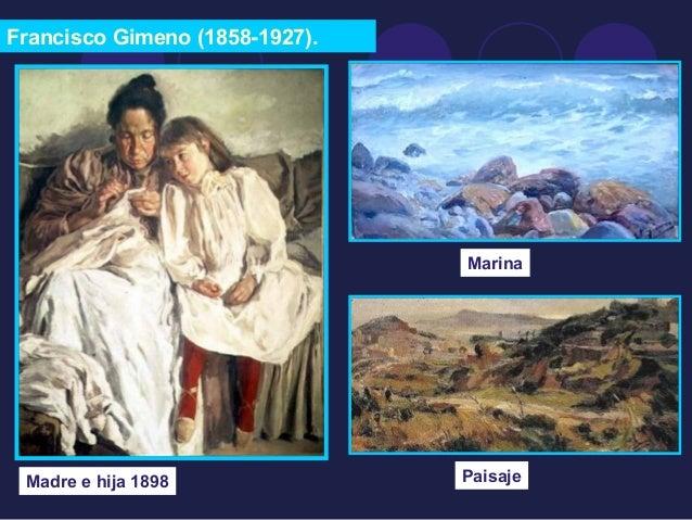Francisco Gimeno (1858-1927).  Madre e hija 1898  Marina  Paisaje