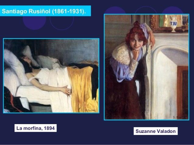 Santiago Rusiñol (1861-1931).  La morfina, 1894 Suzanne Valadon