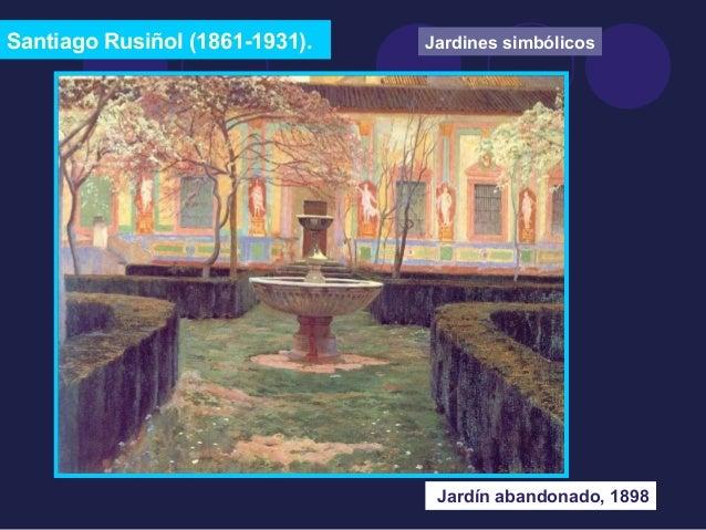 Santiago Rusiñol (1861-1931).  Jardines simbólicos  Jardín abandonado, 1898