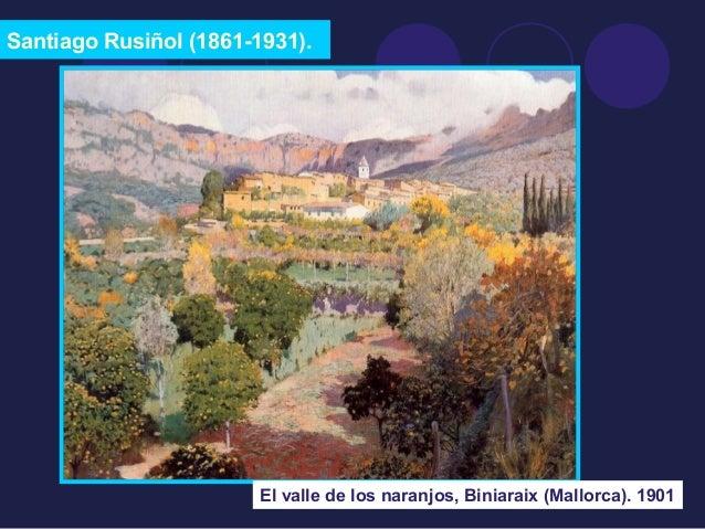 Santiago Rusiñol (1861-1931).  El valle de los naranjos, Biniaraix (Mallorca). 1901