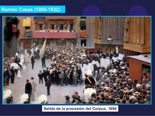 Ramón Casas (1866-1932).  Salida de la procesión del Corpus, 1896