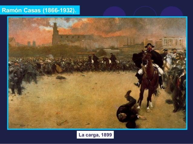 Ramón Casas (1866-1932).  La carga, 1899