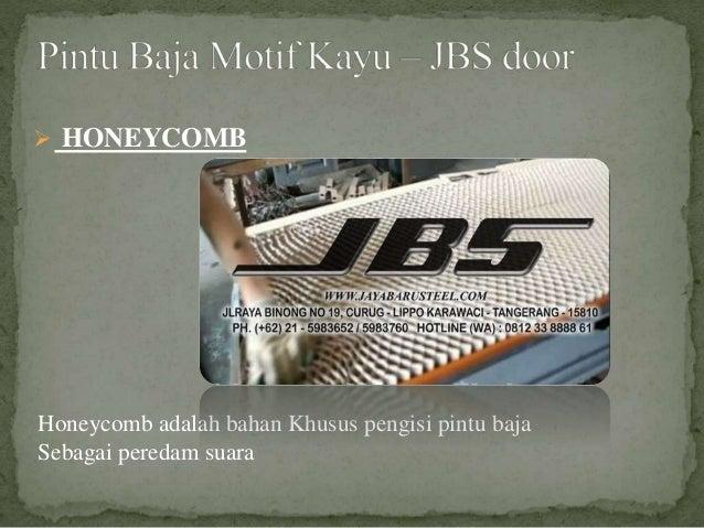 Honeycomb adalah bahan Khusus pengisi pintu baja Sebagai peredam suara  HONEYCOMB