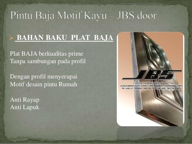Plat BAJA berkualitas prime Tanpa sambungan pada profil Dengan profil menyerupai Motif desain pintu Rumah Anti Rayap Anti ...
