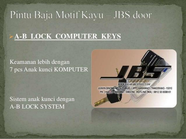 Keamanan lebih dengan 7 pcs Anak kunci KOMPUTER Sistem anak kunci dengan A-B LOCK SYSTEM A-B LOCK COMPUTER KEYS