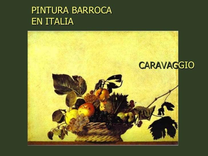 CARAVAG GIO   PINTURA BARROCA EN ITALIA