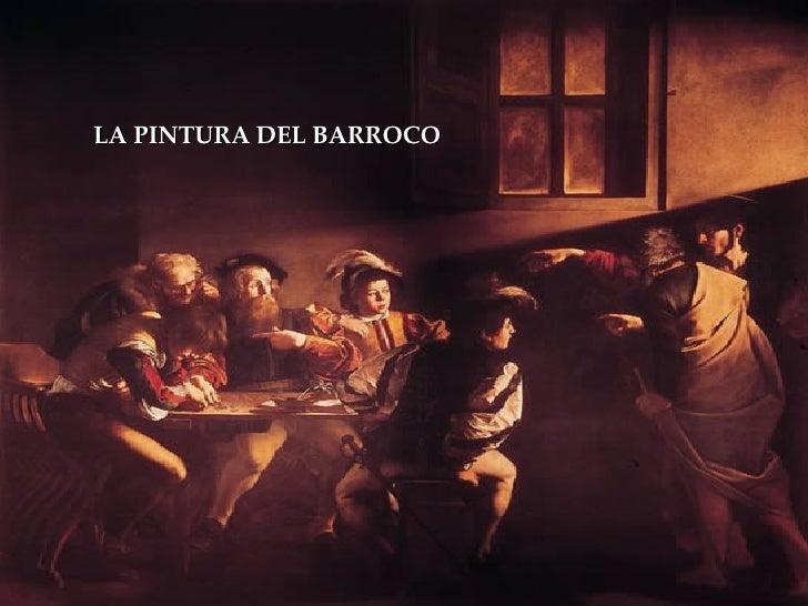 LA PINTURA DEL BARROCO