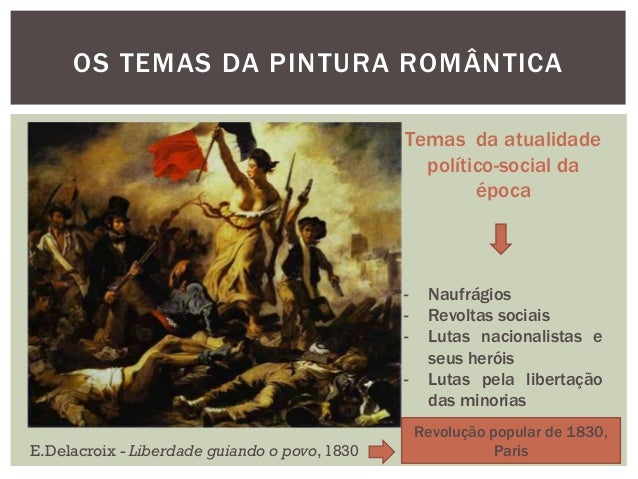 OS TEMAS DA PINTURA ROMÂNTICA                                               Temas da atualidade                           ...