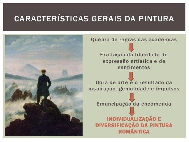 CARACTERÍSTICAS GERAIS DA PINTURA               Quebra de regras das academias                   Exaltação da liberdade de...