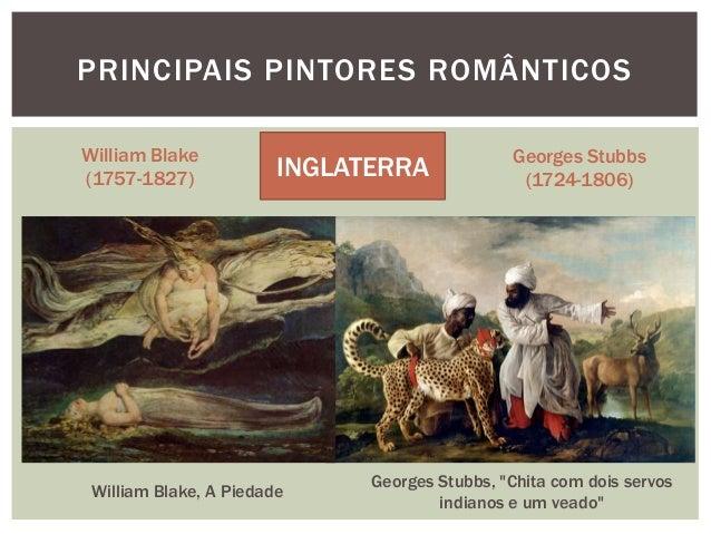 PRINCIPAIS PINTORES ROMÂNTICOSWilliam Blake                                  Georges Stubbs(1757-1827)             INGLATE...
