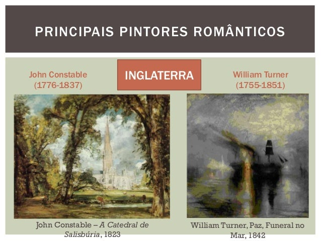 PRINCIPAIS PINTORES ROMÂNTICOSJohn Constable          INGLATERRA           William Turner (1776-1837)                     ...