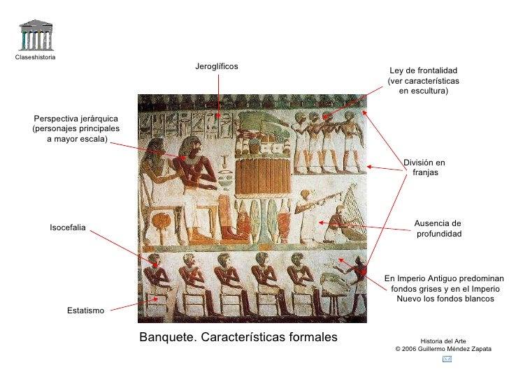 Claseshistoria Historia del Arte © 2006 Guillermo Méndez Zapata Banquete. Características formales Ley de frontalidad (ver...