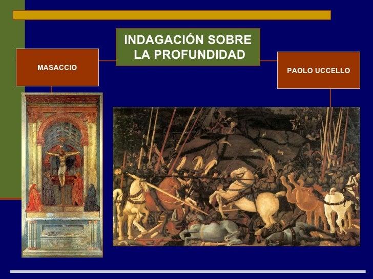 INDAGACIÓN SOBRE LA PROFUNDIDAD PAOLO UCCELLO MASACCIO