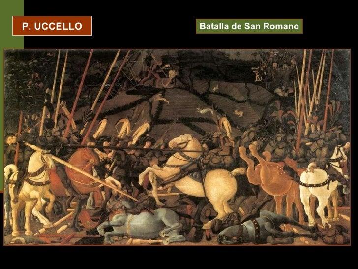 P. UCCELLO Batalla de San Romano