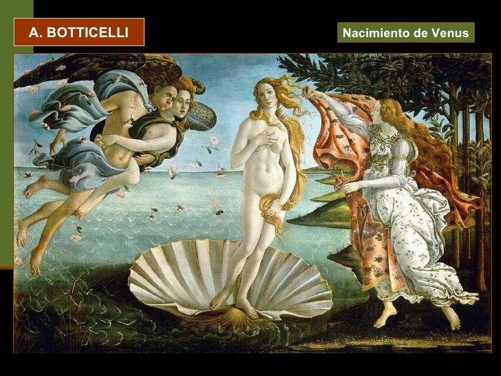 A. BOTTICELLI Nacimiento de Venus