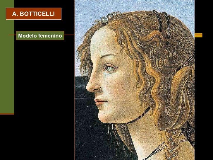 A. BOTTICELLI Modelo femenino