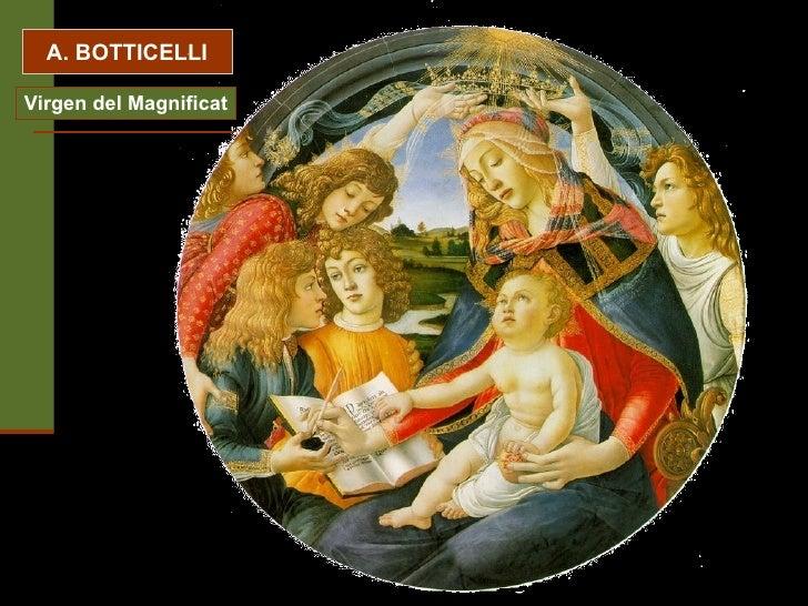 A. BOTTICELLI Virgen del Magnificat