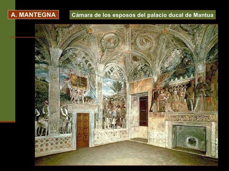 A. MANTEGNA Cámara de los esposos del palacio ducal de Mantua