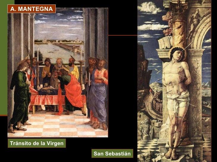 A. MANTEGNA Tránsito de la Virgen San Sebastián