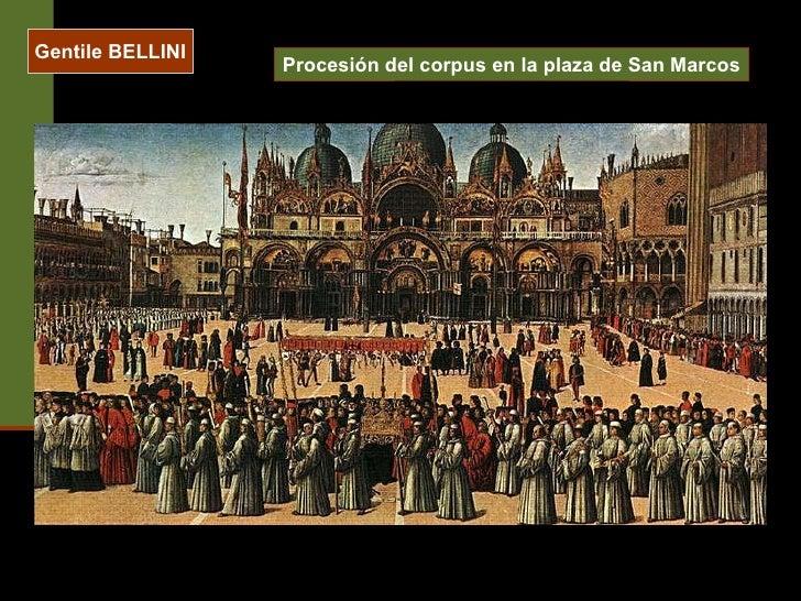 Gentile BELLINI Procesión del corpus en la plaza de San Marcos