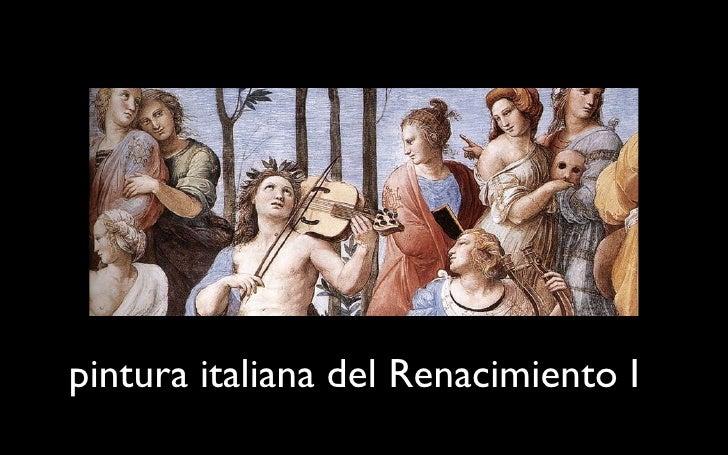 pintura italiana del Renacimiento I