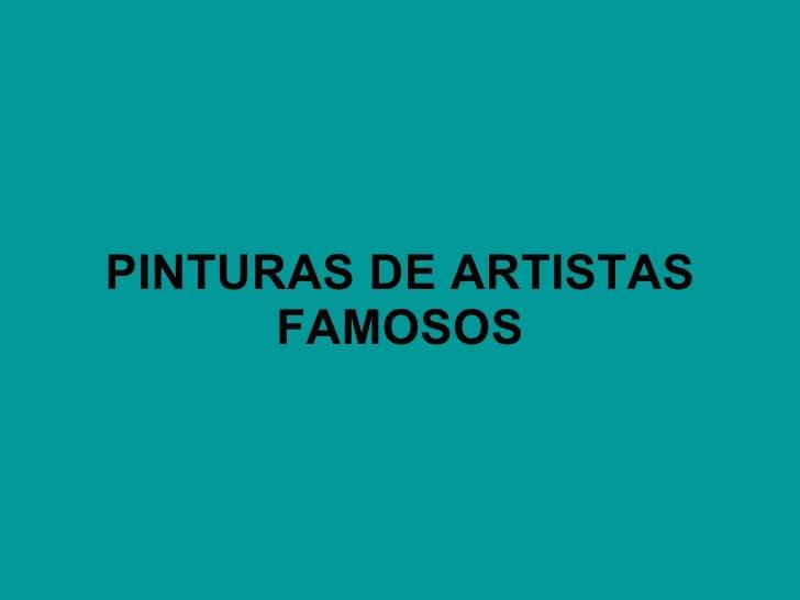 PINTURAS DE ARTISTAS FAMOSOS VMGR/05