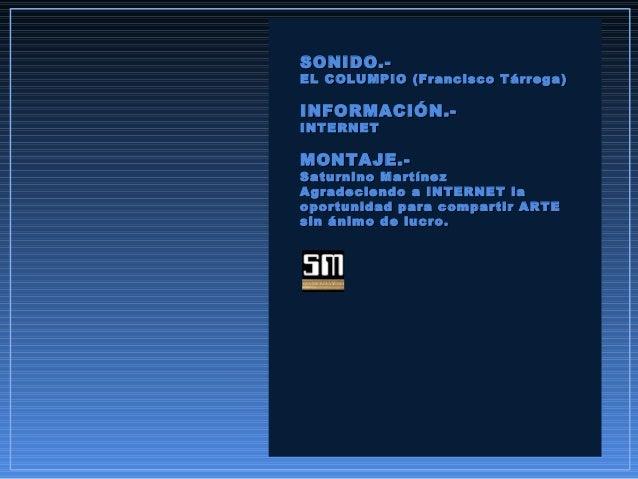 SONIDO.-SONIDO.- EL COLUMPIO (Francisco Tárrega)EL COLUMPIO (Francisco Tárrega) INFORMACIÓN.-INFORMACIÓN.- INTERNETINTERNE...