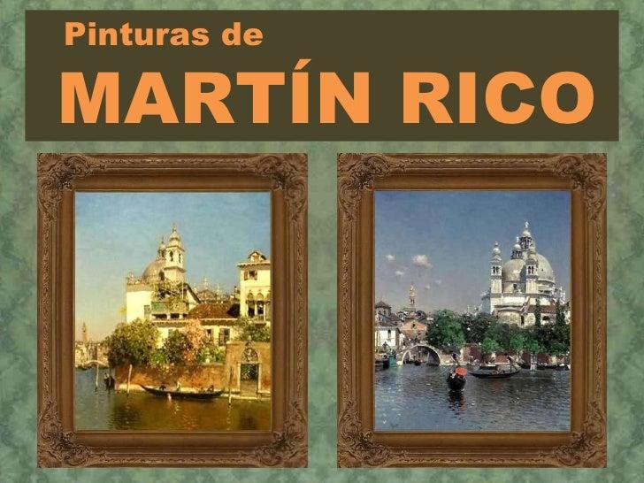 Pinturas de MARTÍN RICO