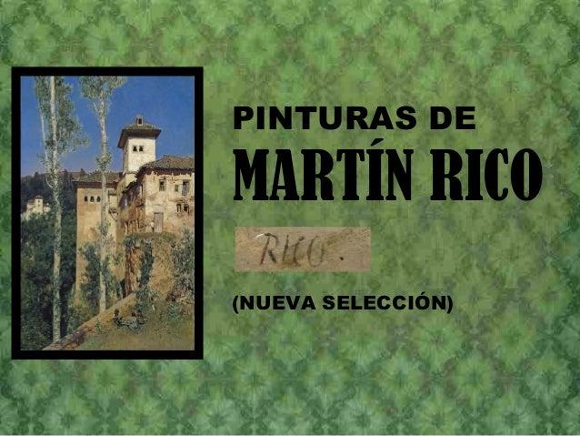 PINTURAS DE MARTÍN RICO (NUEVA SELECCIÓN)