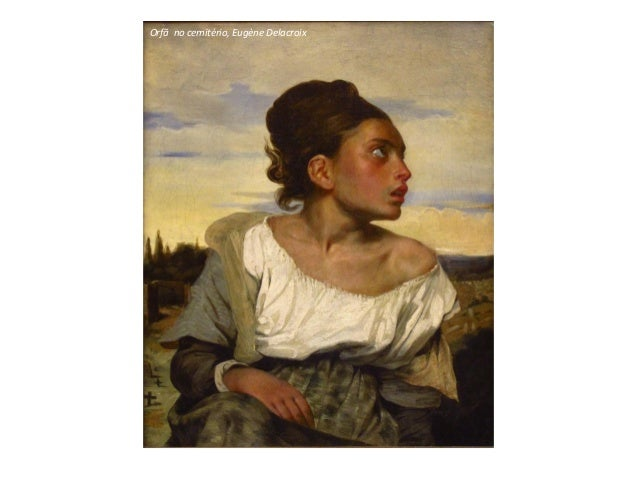 Orfã no cemitério, Eugène Delacroix