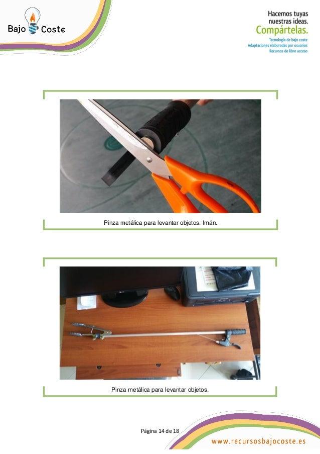 Página 14 de 18 Página 14 de 18 Pinza metálica para levantar objetos. Imán. Pinza metálica para levantar objetos.
