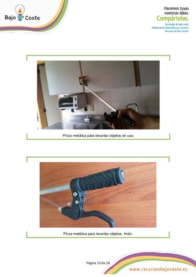 Página 15 de 18 Página 15 de 18 Pinza metálica para levantar objetos en uso. Pinza metálica para levantar objetos. Imán.