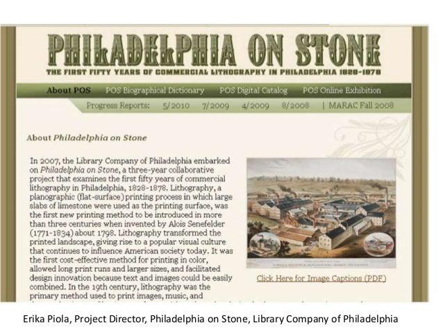 Erika Piola, Project Director, Philadelphia on Stone, Library Company of Philadelphia