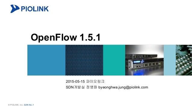 1© PIOLINK, Inc. SDN No.1 OpenFlow 1.5.1 2015-05-15 파이오링크 SDN개발실 정병화 byeonghwa.jung@piolink.com