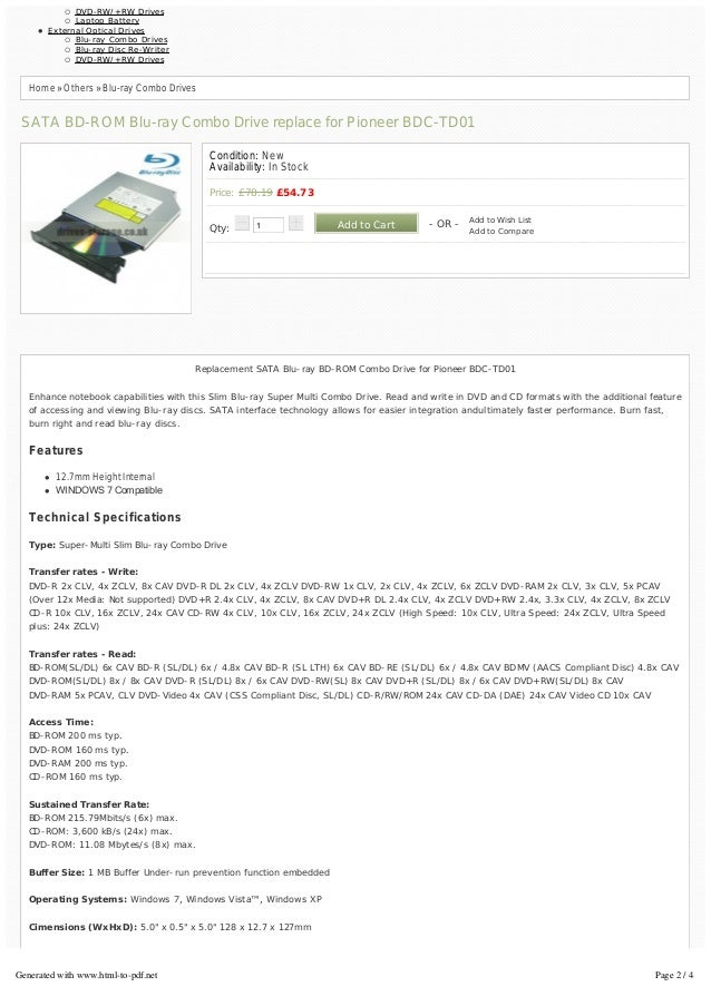 PIONEER BD-ROM BDC-TD01 WINDOWS 8 DRIVER DOWNLOAD