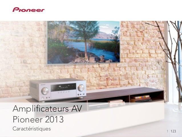 Amplificateurs AV Pioneer 2013 Caractéristiques 1 123