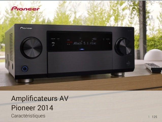 1 125  Amplificateurs AV  Pioneer 2014  Caractéristiques