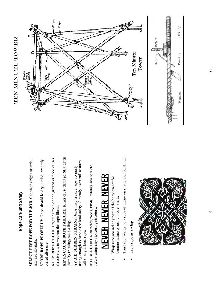 pioneering knots and lashings