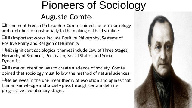 pioneers of sociology In the history of sociological theory, talcott parsons holds a very special place  his the structure of social action (1937), was a pioneer work that has  influenced.