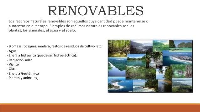 potencial de los recursos naturales