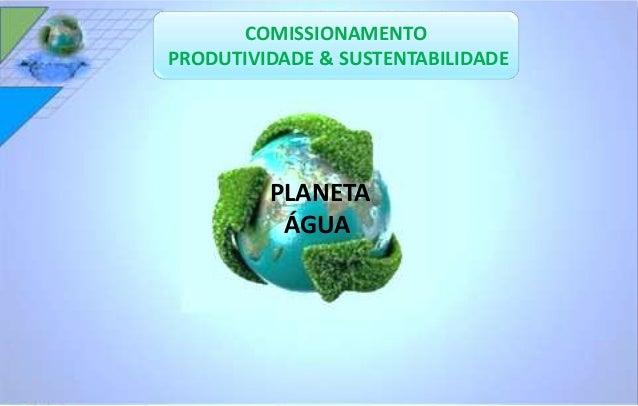 COMISSIONAMENTO  PRODUTIVIDADE & SUSTENTABILIDADE  PLANETA  ÁGUA